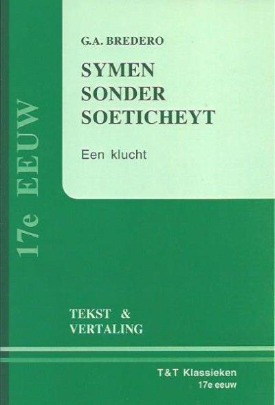 Boekcover Symen sonder soeticheydt