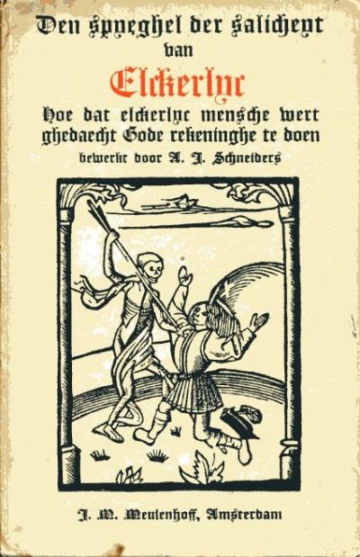 Boekcover Spyeghel der salicheyt van Elckerlijc