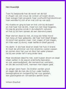 Gedichtbespreking Nederlands Het Huwelijk Willem Elsschot