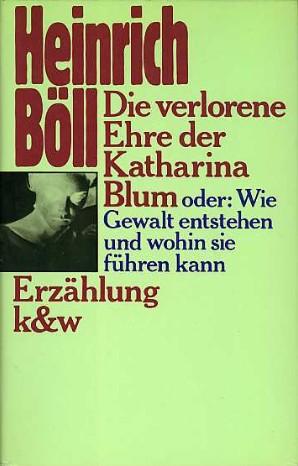 Boekcover Die verlorene Ehre der Katharina Blum