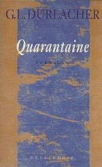 Boekcover Quarantaine