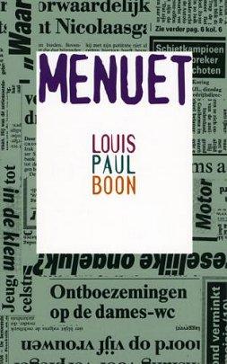 Boekcover Menuet