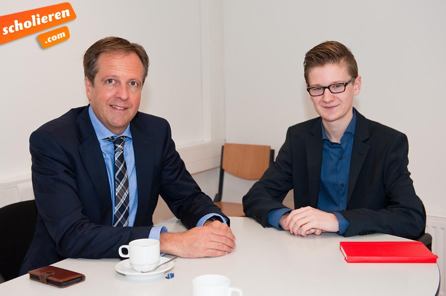 Blogger Hidde interviewt Alexander Pechtold. Foto: Chris Heijmans