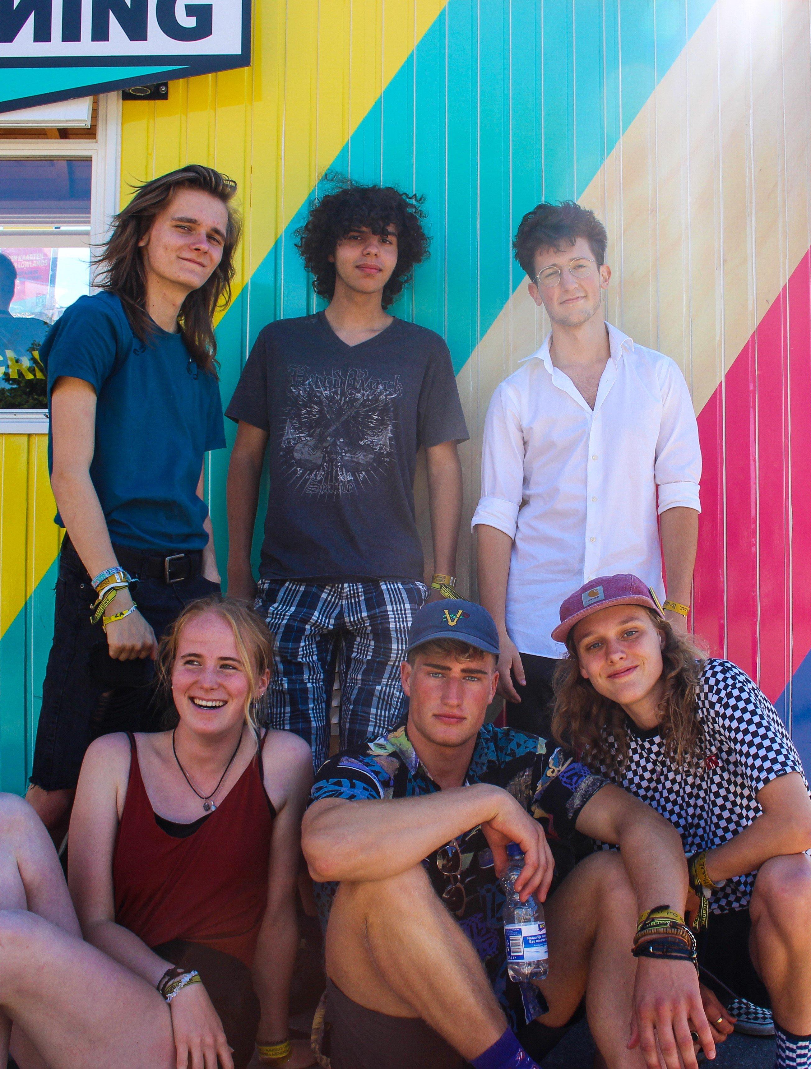 Boven: Stijn(l), Ruben(m) en Egor(r). Onder: Silva(l), Wouter(m) en Aurelia(r). Beeld: Elisa Lo-A-Njoe.