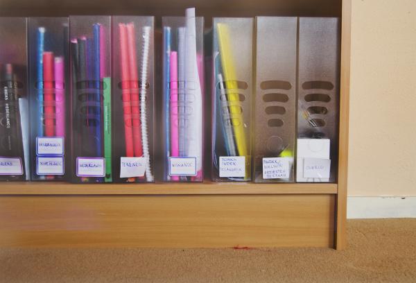 Mijn schoolboekensorteersysteem. Copyright: Sophie Theunissen