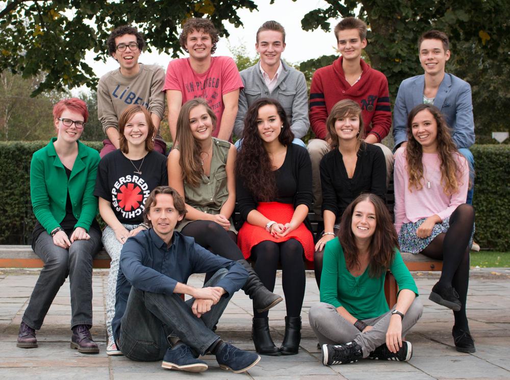 Een deel van de Scholieren.com-redactie in de zomer van 2013. Foto: Leonie van den Ende