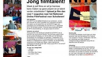 Gezocht: Jong filmtalent!