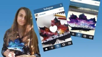 Joanna (16) maakt kunst op gevallen bladeren