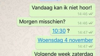 Blauwe linkjes WhatsApp niet volledig geschrapt