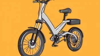 Op de elektrische fiets naar school