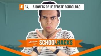 Schoolhacks | Zes dingen die je niet moet doen op je eerste schooldag
