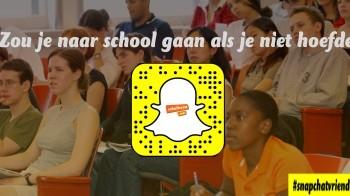 Snapchatvrienden: zou je naar school gaan als het niet hoefde?