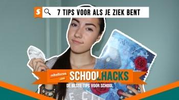 Schoolhacks: 7 tips voor wanneer je ziek bent