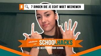 Schoolhacks: 7 dingen die je echt moet meenemen naar school
