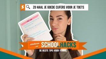 Schoolhacks: zo haal je goede cijfers voor je toets!