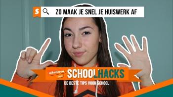 Schoolhacks: zo rond je snel je huiswerk af