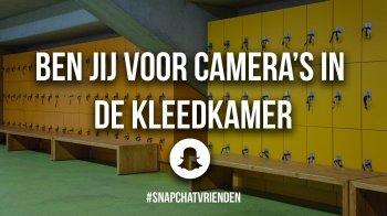 Snapchatvrienden: ben jij voor camera's in kleedkamers?