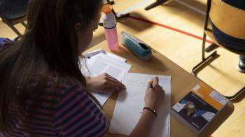 Pandapoep brengt havisten van de wijs tijdens examen Engels