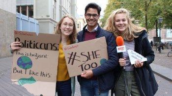 Politici beoordelen de klimaatborden van jongeren