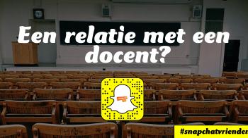 Snapchatvrienden: Een relatie met je docent?