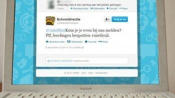 Leraar bespot leerlingen op Twitter