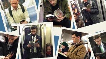 Trend: knappe mannen met een boek
