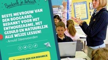 Al meer dan 1000 leraren-bedankjes