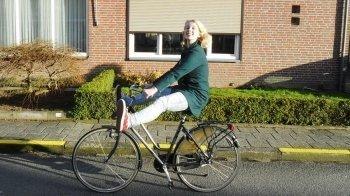 Scheuren op een elektrische fiets