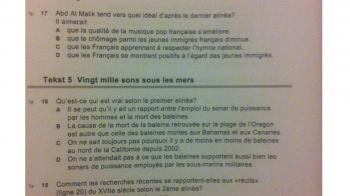 Brief van de examenverspreider