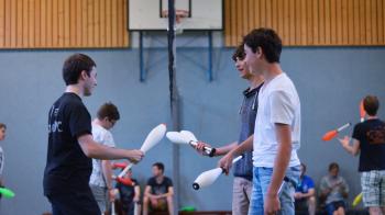 Een heel weekend jongleren