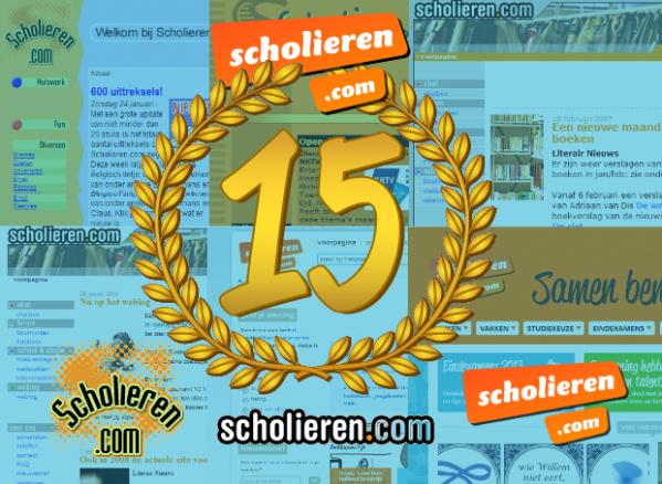 Scholieren.com bestaat 15 jaar!