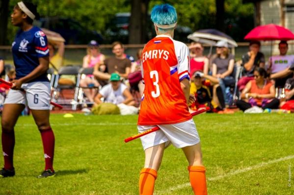 Emrys (17) speelt zwerkbal