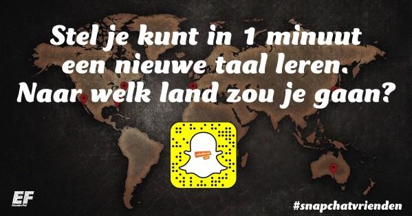 Snapchatvrienden: waar reis jij naartoe om een nieuwe taal te leren?