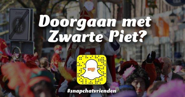 Snapchatvrienden: doorgaan met Zwarte Piet?