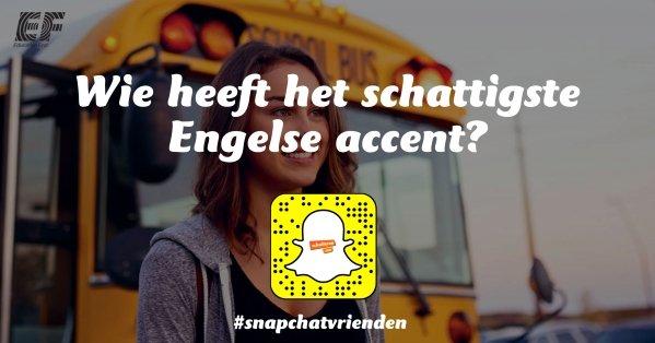 Snapchatvrienden: Wie heeft het schattigste Engelse accent?