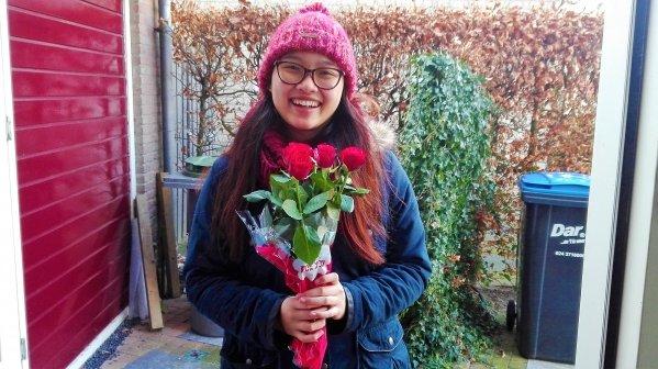 Welke reis hebben Valentijnsrozen afgelegd?