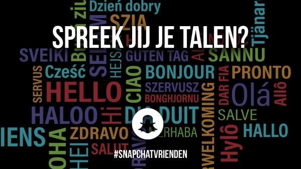 Snapchatvrienden: spreek jij je talen?