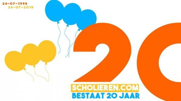 Scholieren.com blaast 20 kaarsjes uit!