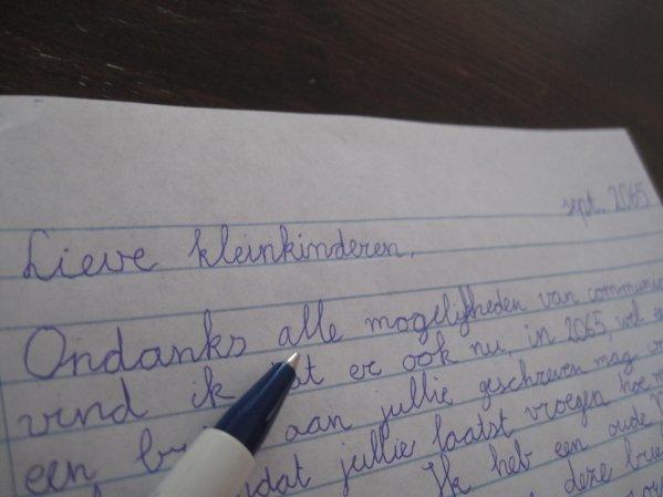 Brief in techno-tijd