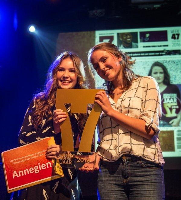Annegien Schilling is Jongere van het Jaar 2016